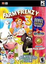 Video Game PC Farm Frenzy 3 Bonus Edition Jenny's Fish Shop Amelie's Cafe NEW