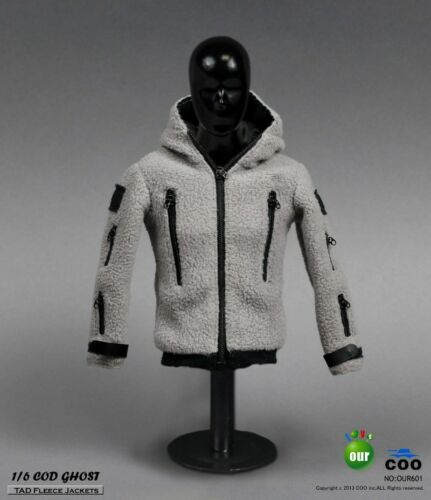 1:6 GHOST TAD Fleece Jackets Pants & Skull Mask Set for Action Figure CM-OU601