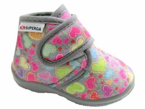 Scarpe Pantofole Superga Bambina Grigio Cuori S21S676 GRIGIO