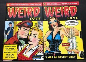 WEIRD-LOVE-2-3-Craig-Yoe-GOLDEN-AGE-REPRINTS-Oddball-Romance-Books-NM-2014-1st