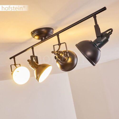 Deckenlampe Decken Leuchte Lampe Arbeitszimmer Büro Leuchte schwarz 4-flammig