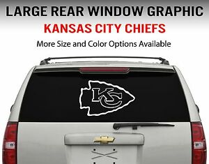 Kansas City Chiefs Window Decal Graphic Sticker Car Truck SUV - Custom vinyl decals kansas city