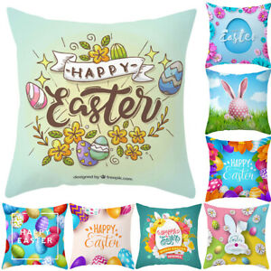 Am-KF-Easter-Flower-Egg-Rabbit-Pillow-Case-Home-Car-Decor-Sofa-Bed-Cushion-Cov