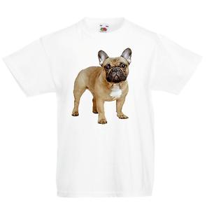 French bulldog KID/'S T-Shirt Pour Enfants Garçons Filles Unisexe Top Dog