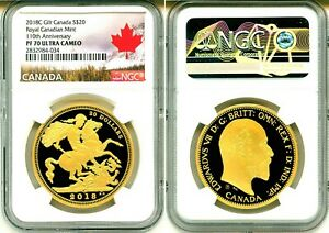 2018 110th Royal Canadian Mint $20 1OZ Silver Proof Coin Canada 1908 Sovereign