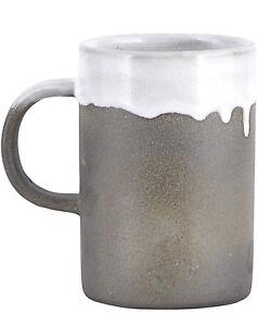 house doctor tasse becher kaffee tee grau keramik running glaze beton optik ebay. Black Bedroom Furniture Sets. Home Design Ideas