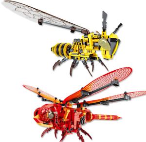 Sembo-Blocksteine-Insekten-Wespe-Dekoration-Figur-Spielzeug-Geschenk-Modell-Kind