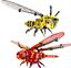 Sembo-Blocksteine-Insekten-Wespe-Dekoration-Figur-Spielzeug-Geschenk-Modell-Kind Indexbild 1
