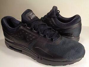 buy online 1e872 36adc Image is loading Nike-Air-Max-Zero-Essential-Black-Triple-Black-