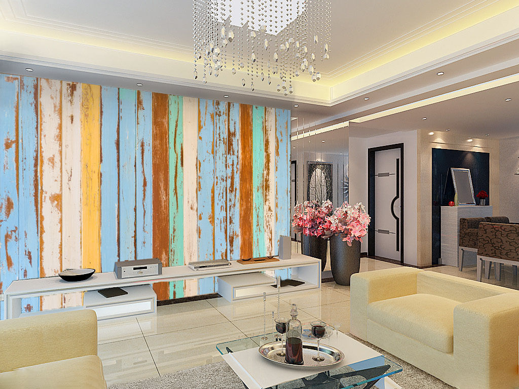 3D Farbe Stripes Pattern Wall Print Wall Decal Wall Deco Indoor Murals