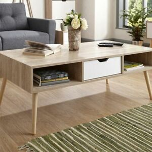 Details About Coffee Table Furniture Living Room White Oak Colour Stockholm Range