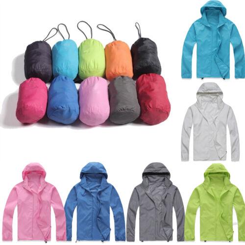 Waterproof Windproof Men Women Zip Jacket Bicycle Outdoor Rain Coat with Bag 14