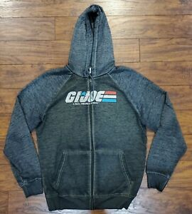 GI-Joe-Zip-up-Hooded-Sweatshirt-Size-Men-Medium-M