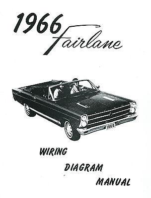 1966 66 ford fairlane wiring diagram manual  ebay
