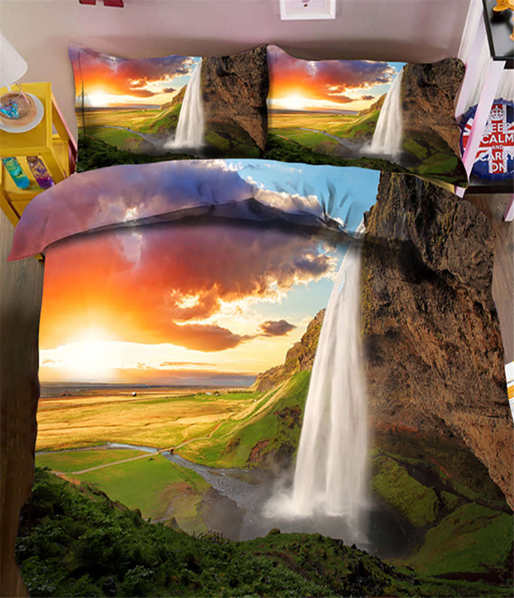 Brilliant Sunset 3D Printing Duvet Quilt Doona Covers Pillow Case Bedding Sets