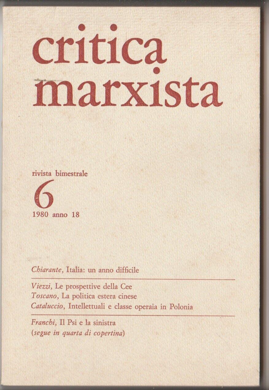 Critica marxista anno 14 n° 3-4 maggio/agosto 1976