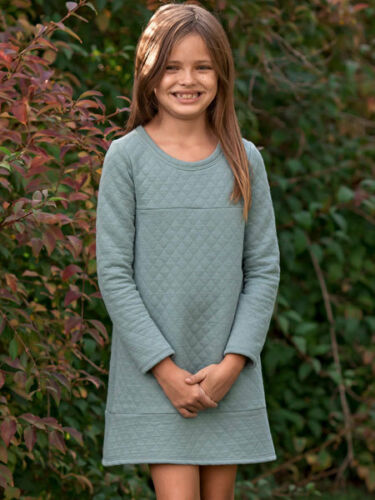 Mable Honey Falling For You Girls Blue Dress Long Sleeves Sizes 4-14 NWT