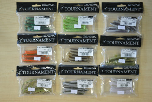 "Daiwa Tournament D'Fin 3"" Soft Bait Pack of 10"