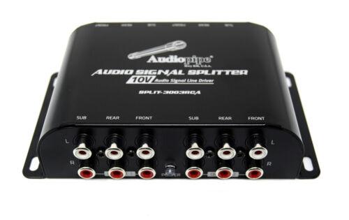 Rear Subwoofer Inputs 10V Line Driver Multi-Audio Amplifier 3  RCA  Front