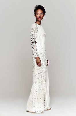 NWT! COVETED ZIMMERMANN GOOD LOVE LACE WEDDING MAXI DRESS US