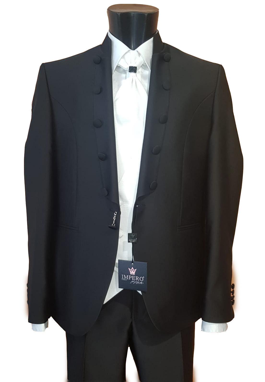 Abito  Herren Impero nero con gilet bianco 58 elegant dress robe élégante elegantes