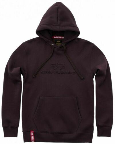 NUOVO Alpha Industries Uomo Hoody Taglia L Hoodie 3d con cappuccio Pullover Felpa