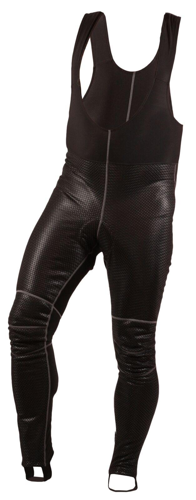 Mens thermal warm winter cycling windproof long bib tights bike padded pants