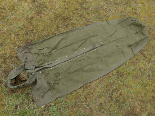 Nylon//cotton ARMY Vintage Schlafsack Hülle Bezug oliv sleeping bag cover TYP4