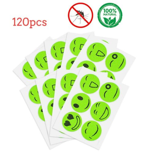 120pcs Anti-Toxic Insect Bugs Mosquito Repellent Patch Stickers Camping Yard