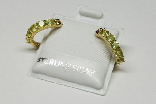 18K GOLD over 925 STERLING SILVER Lady Girl HOOP EARRINGS New n Box SPECIAL SALE