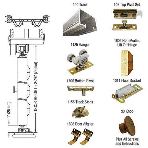 "CRL 60/"" Bi-Fold Hardware 4 Door Set For Use with Heavy Solid Core Doors"
