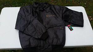 Image Is Loading Genuine Retro Snap On Leather Jacket Large X
