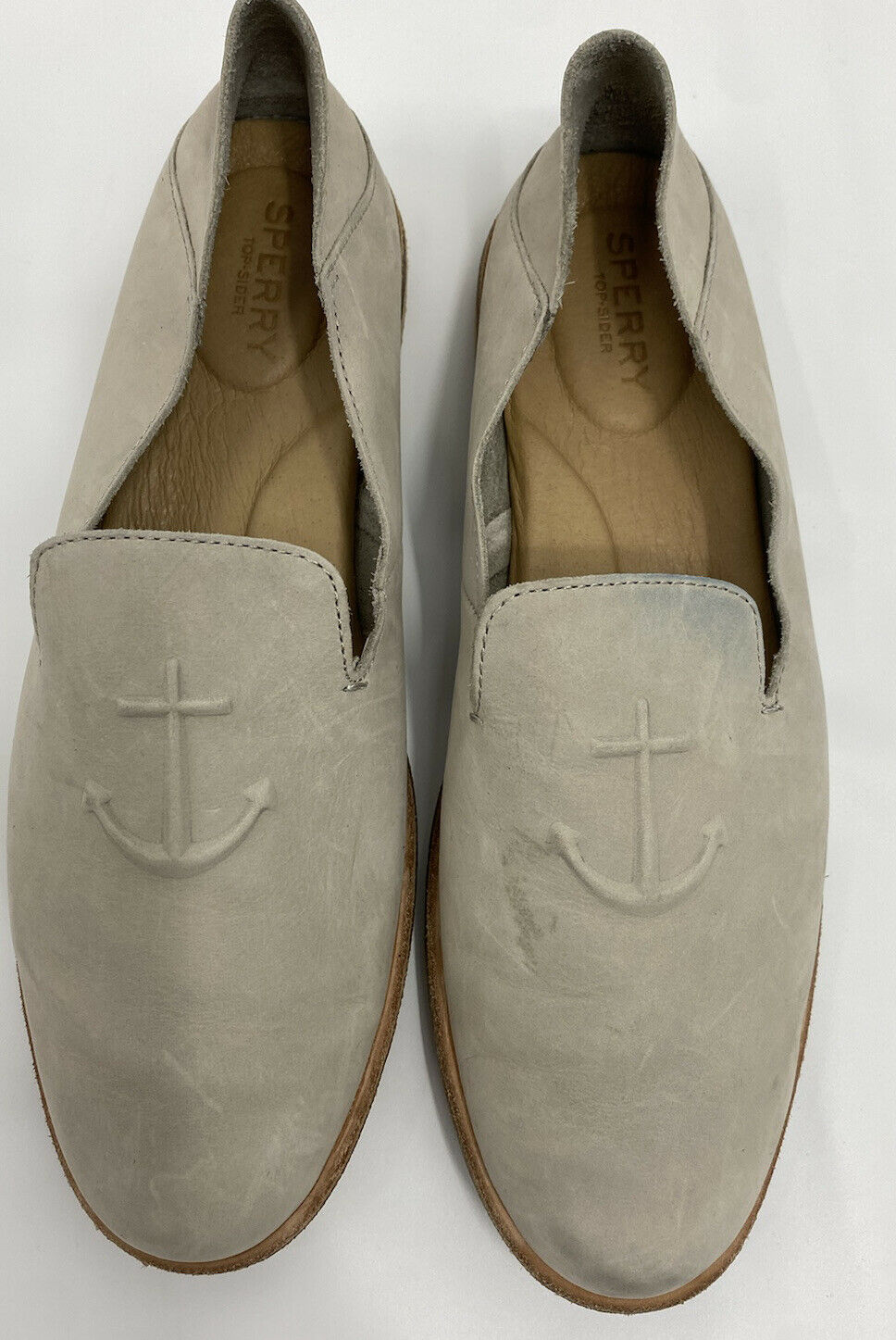 Sperry Top-Sider Womens Loafer Suede Leather Comfort Slip On Shoe Size 10