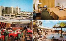 TAMPA FLORIDA SHERATON MOTOR IN~CASS & MORGAN STREETS~NICE ROOM TV POSTCARD 1960