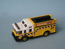 Matchbox Hazard Squad Fire Engine Rescue Yellow Airport Rescue E4 75mm Long