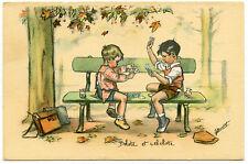 ILLUSTRATEUR GERMAINE BOURET.ENFANTS.JEUX DE CARTE.BELOTE.CARD GAMES.CHILDREN.