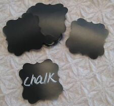 "25 2"" Square Scroll chalkboard Chalk Board Sticker Gift Wedding Mason Jar Labels"