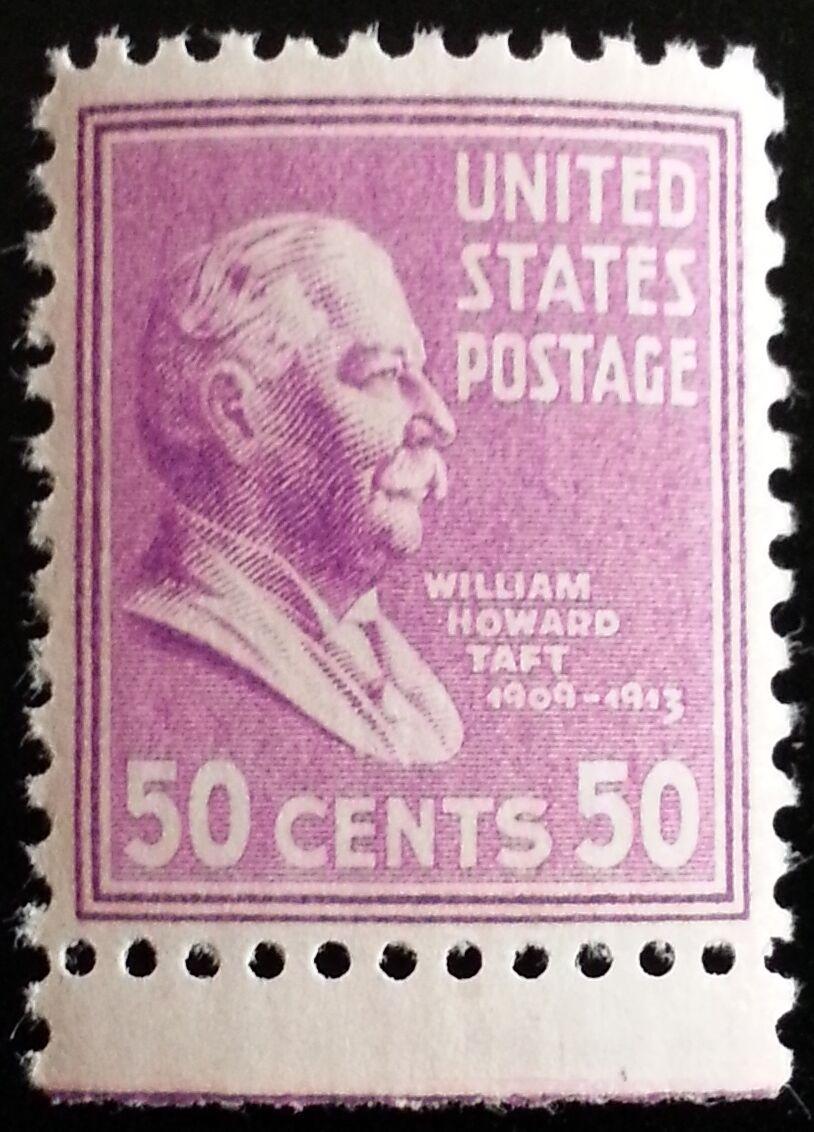 1938 50c William Howard Taft, 27th President Scott 831