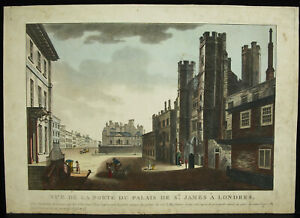 Engravings-18th-c1770-View-of-The-Palace-of-Saint-James-London-England