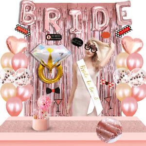 Bride-To-Be-Folien-Luftballon-Banner-Hochzeit-JGA-Junggesellinnenabschied-Deko