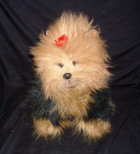 13 VINTAGE TY 1990 PUPPY DOG YORKIE YORKSHIRE FUZZY STUFFED ANIMAL PLUSH TOY