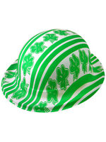 Fancy Dress Green Bowler Hat Shamrock Clover St Patricks Day Ireland Irish Eire