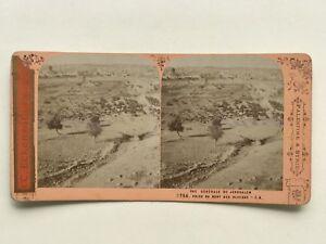 Gerusalemme Panorama Foto J.Andrieu Stereo Vintage Albumina c1870