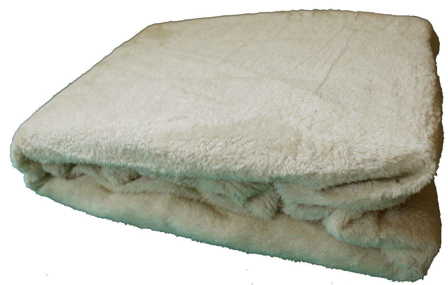 Luxus Teddy Spannbettlaken 90-100x200cm, creme, Flausch Plüsch Fleece Nicky Soft