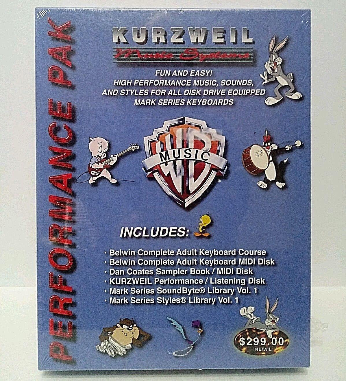 Kurzweil Performance Pak WB Looney Tunes DJ Samples Sounds MIDI Keyboard Lessons