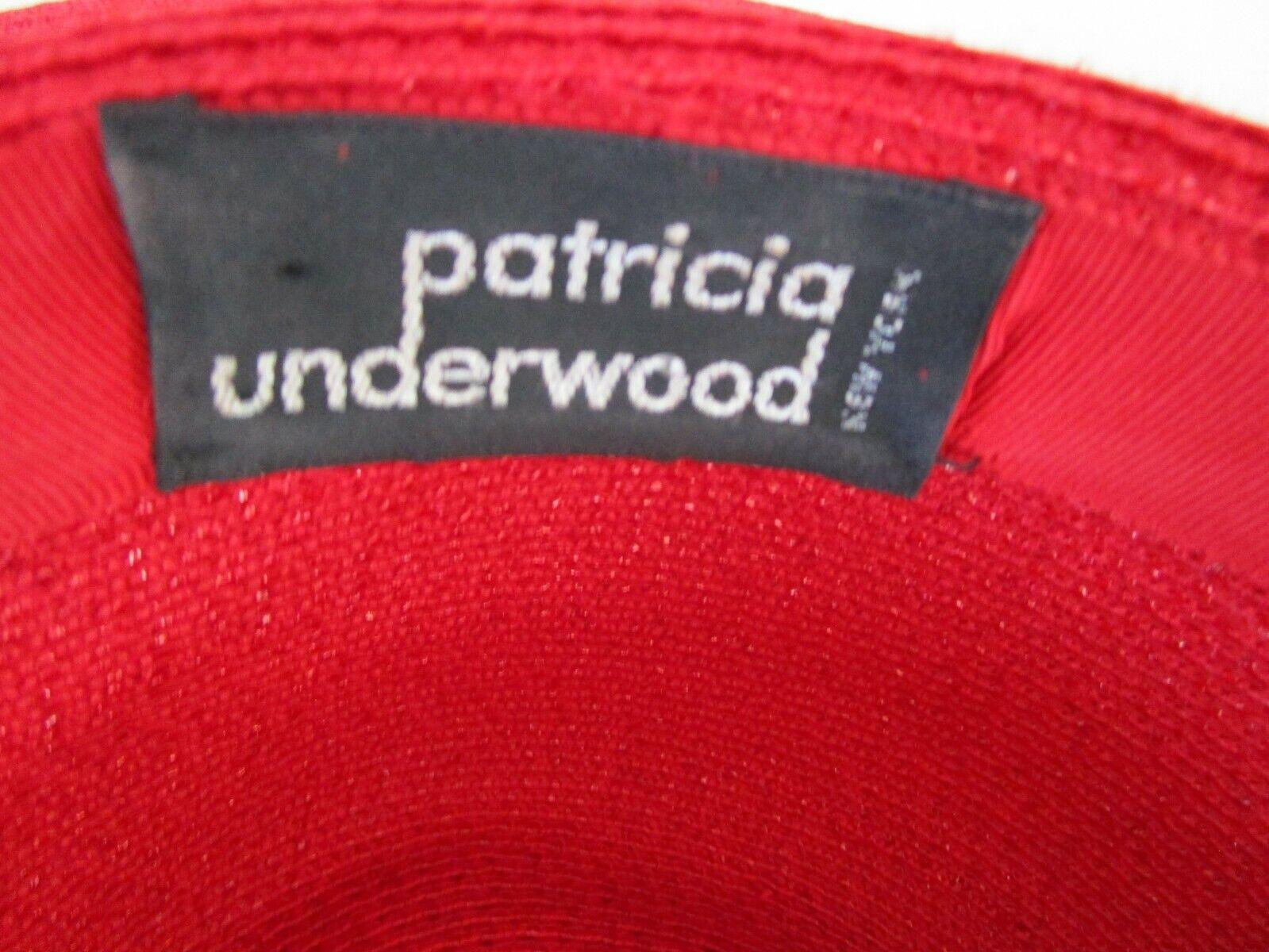 Patricia Underwood Red Wide Brim Hat Silk Flower … - image 10
