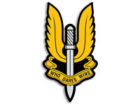3x5 inch British SAS WIngs Shaped Sticker -Who Dares Wins Special Air Service uk