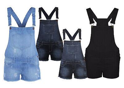 NUOVO Donne Ragazze /& Bambini Pantaloncini Di Jeans Salopette Abito Ragazze Tutina Taglia 8-16