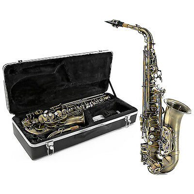 New Alto Saxophone, Vintage Finish with Hard Case by Gear4music