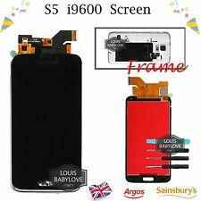 For Samsung Galaxy S5 i9600 G900F LCD Touch Screen Display Digitizer Frame Black